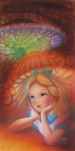 Alice in Wonderland - Wondering - John Rowe - World-Wide-Art.com - $395.00 #Disney #JohnRowe