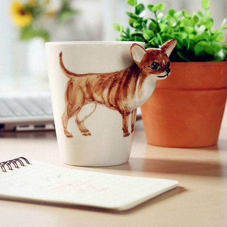 1 PCS Lovely 3D Hand-painted Animal dog Cup Coffee Mug Tea Mug Ceramic Cup Decorative Gift