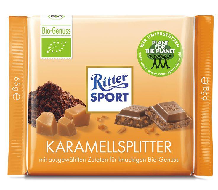 RITTER SPORT Bio Karamellsplitter Schokolade