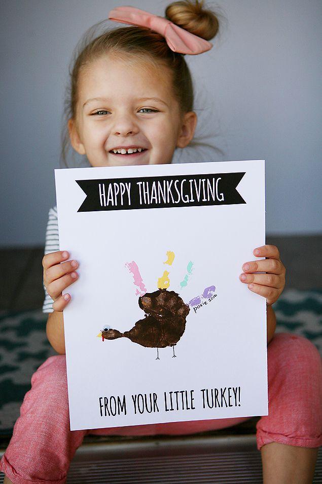 Handprint Turkey Cards   Thanksgiving Kids Craft