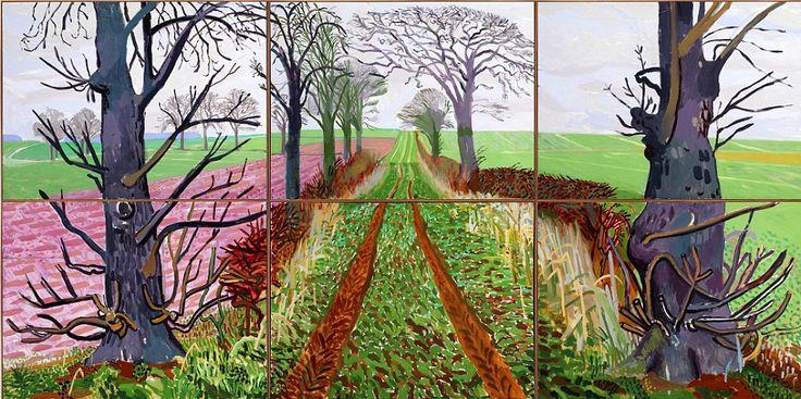 David Hockney: iPad art: Closer Winter, David Hockney, Art, Royal Academy, Landscape, Painting, Davidhockney