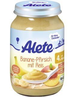 myTime Angebote Alete Banane & Pfirsich mit Reis: Category: Baby > Babynahrung > Früchte & Getreide Item number: 4502130089…%#lebensmittel%
