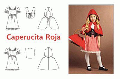 Como hacer la Capa y el disfraz de Caperucita roja   Trato o truco