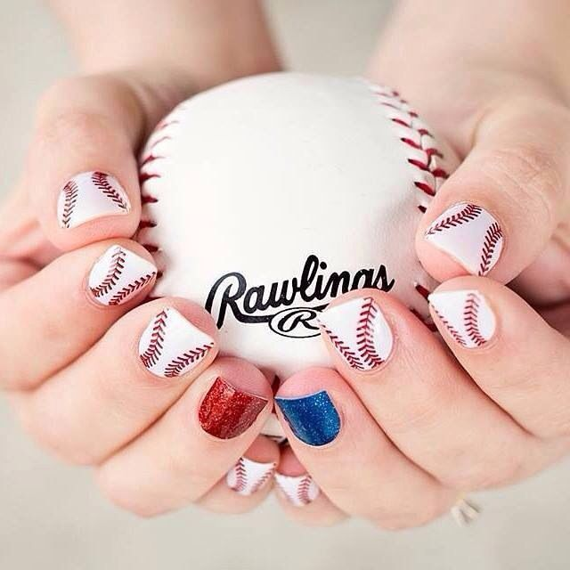 Baseball season is just around the corner! Get your nails ready for the ballpark this Spring and Summer with our Curveball wrap! Customize accent fingers with your team's colors too! ⚾️ http://anj.jamberrynails.net/product/curve-ball#.VP-Zbtm9LCQ http://anj.jamberrynails.net/category/sparkling-solids