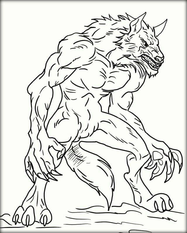 Marvelous Photo Of Werewolf Coloring Pages Halloween Coloring