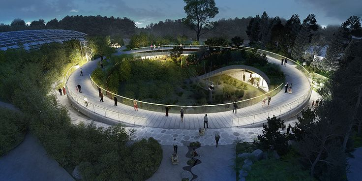 bjarke ingels group has unveiled plans for a yin and yang-shaped panda house at copenhagen zoo, which closely resembles the rare mammal's natural habitat.