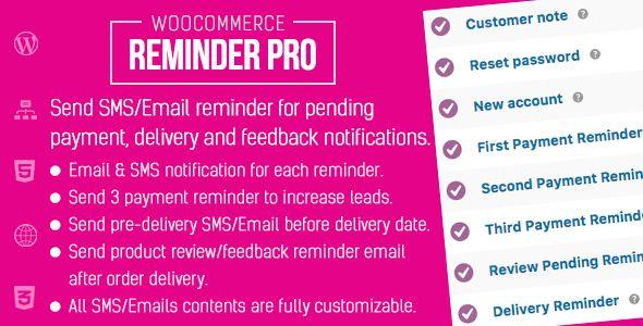 WooCommerce Reminder Pro
