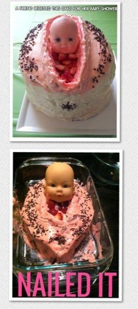 Baby shower cake fail.