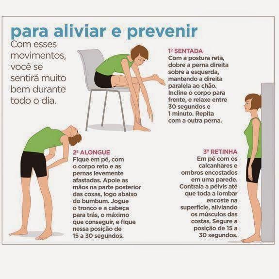 Dicas para aliviar e prevenir dores nas costas