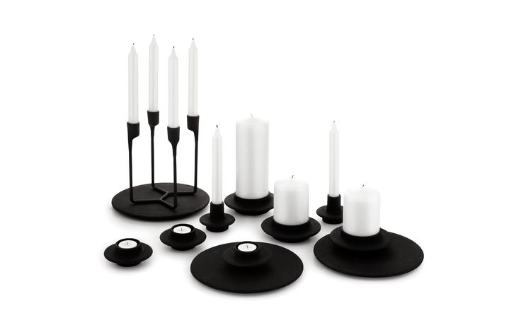 Heima 4-armed Candlestick | Minimalistic candle holder of cast iron By Normann (Copenhagen)
