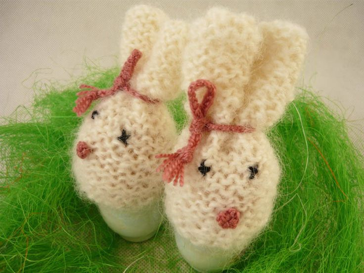 Eggs warmers - rabbits, kawaii egg cosies, table decorations by MariAnnieArt on Etsy