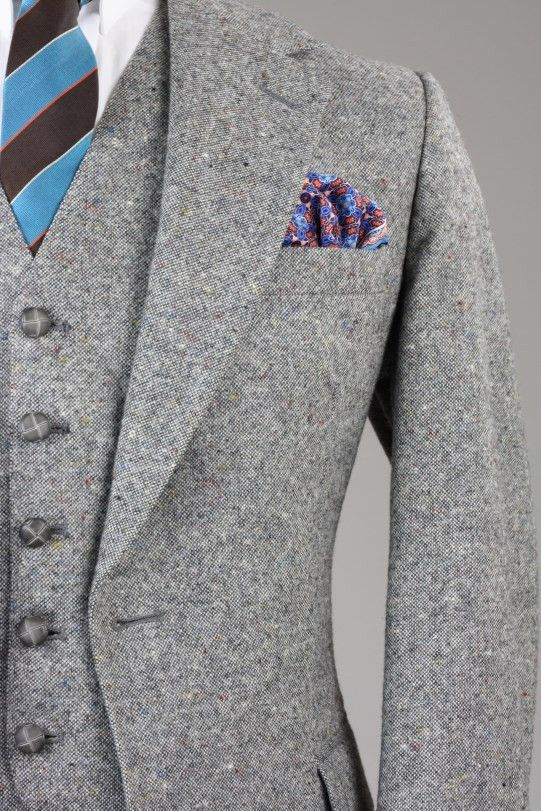Tweed fleck 3 piece suit, just in!  This one is a one of a kind vintage piece.  #dapper #wedding #3piece