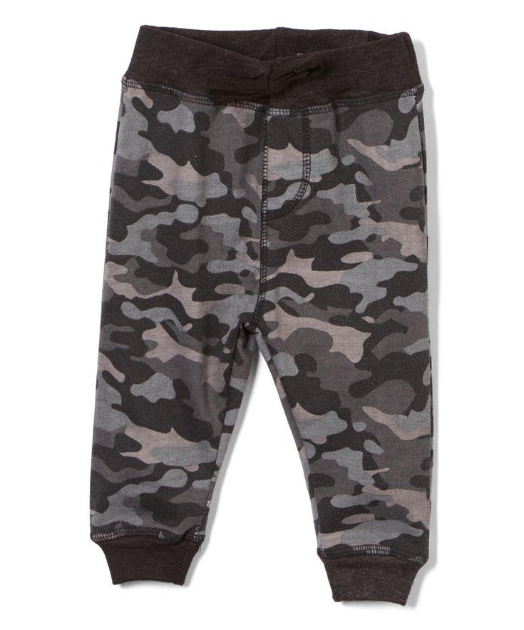 Black Camo Jogger Pants - Boys