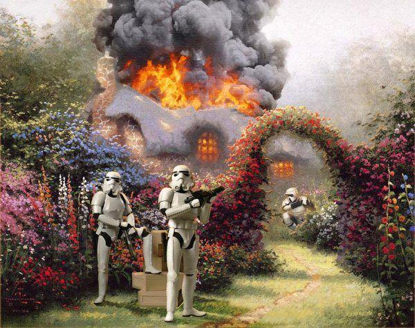 Wars on Kinkade – Star Wars and Thomas Kinkade Mash-Up by Jeff Bennett - Pondly