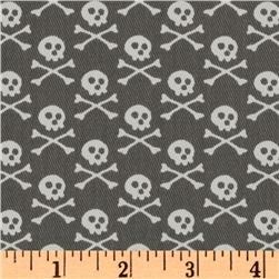Premier Prints Crossbones Twill Storm: Skull Fabrics