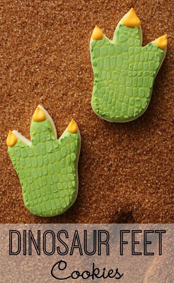 How to Make Dinosaur Feet Cookies