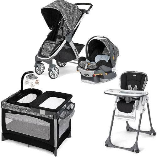 Chicco Bravo Stroller Trio System With Playard And High