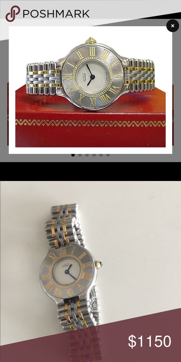 Must de Cartier watch Genuine Cartier watch with box perfect                  Works perfectly as is Cartier Jewelry