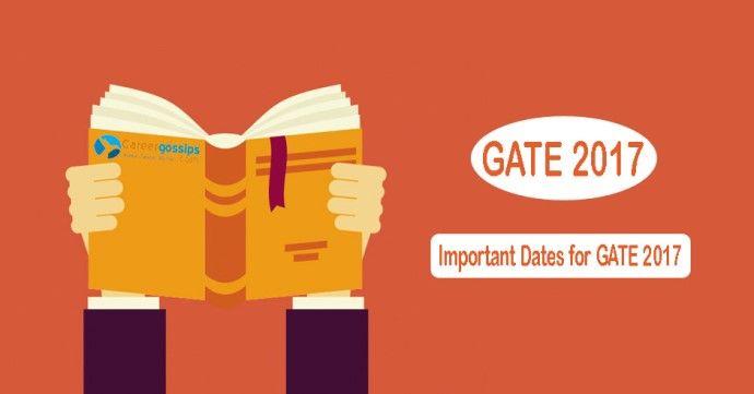 gate 2017 exam date
