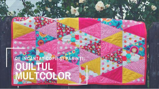 Quilt multicolor pentru fetițe