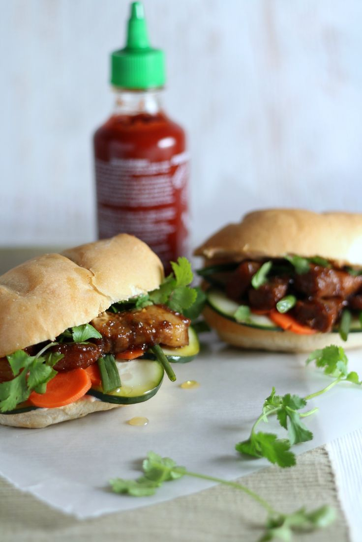 Pork Belly Bahn Mi Sandwiches