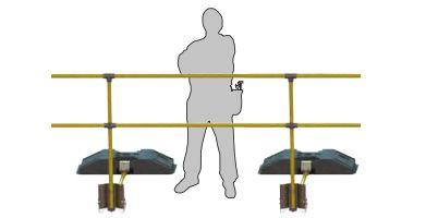 korlát lapos tetőkre - nem kell a tetőhöz csavarozni, bármikor áthelyezhető munkavédelmi eszköz