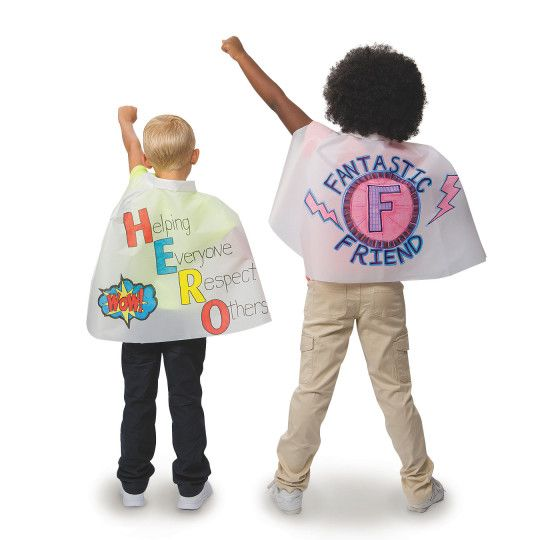 Great for VBS 2017 Super Hero Central Super God theme! Kids can design their own capes with fabric makers