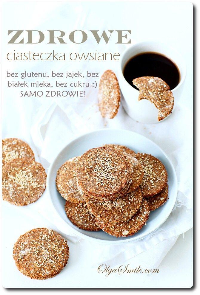 Zdrowe ciasteczka owsiane - przepis Olgi Smile