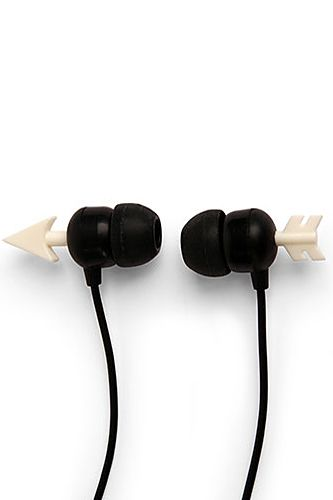 Love these arrow headphones! Gym Gear That'll Do Your Workout Justice #Refinery29 #kikkerland