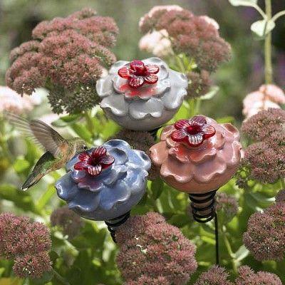 CUTE! Hummingbird feeders...I want these