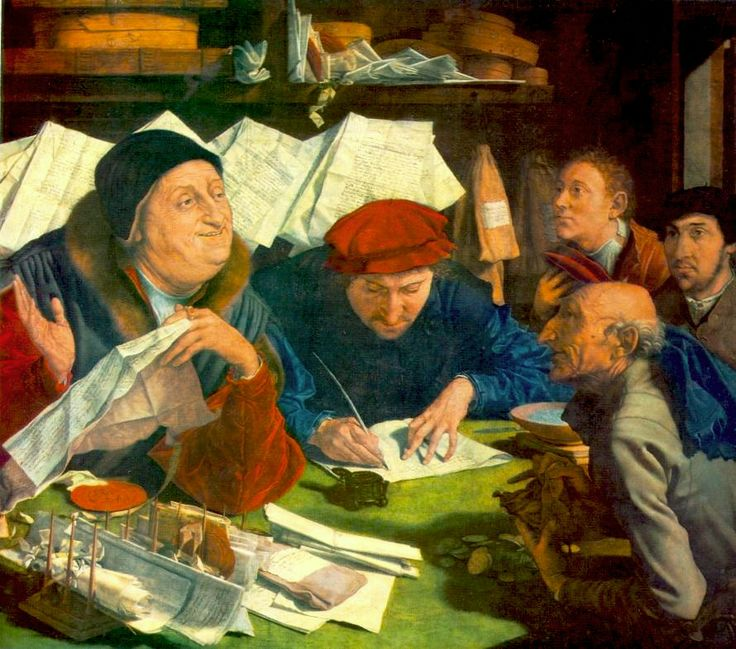 Marinus Van Reymerswaele, Prestatori di denaro, 1542