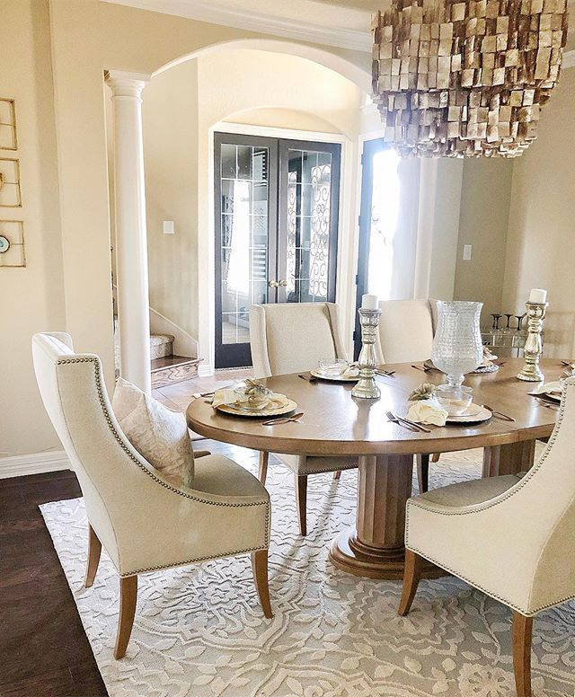 Annette Ane 6118 Area Rug Dining Room Table Decor Luxury Dining Tables Farmhouse Dining Room