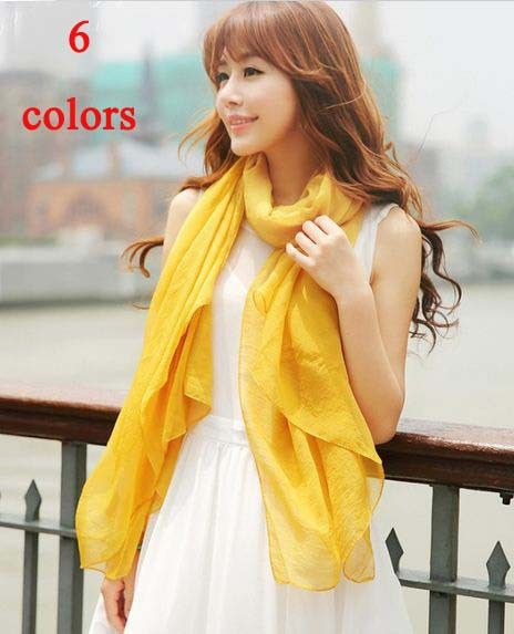 Aliexpress.com : Buy 2013 Fashion Multicolor Solid Color Big Large Long Wrinkle Womens Silk Scarf Hijab Cover Up Cape Shawl Soft Thin Free S...