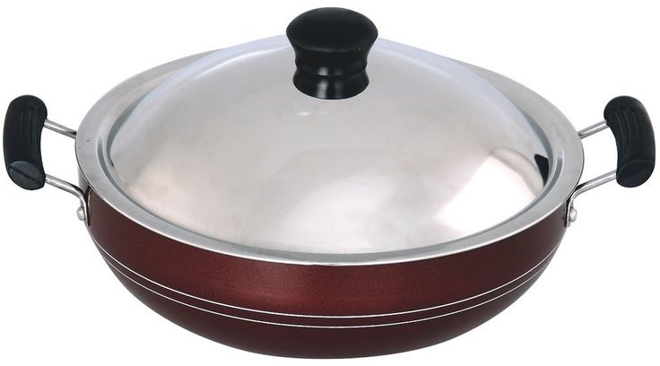 #MOTHI KADAI 250 MM WITH #STAINLESS #STEEL LID
