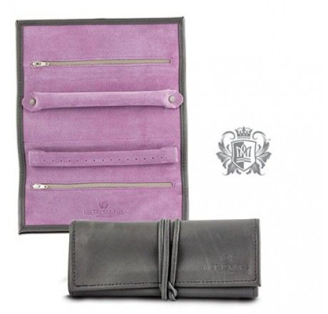 Genuine Leather Travel Jewelery Wallet