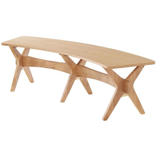 Scandinavian Style Oak Veneer Wooden Bench Kitchen Dining Seat Chair Stool | eBay