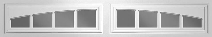 Clopay Window Insert Long Panel Madison Arch 613 2 Piece Set - DIY