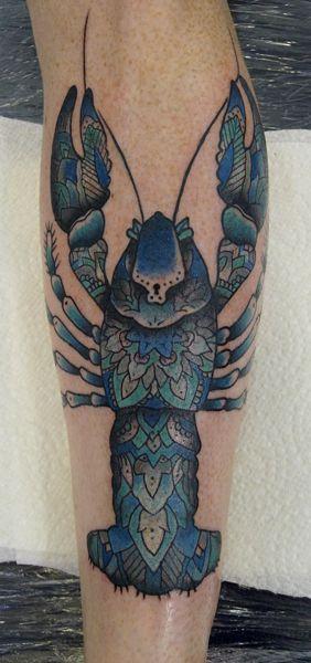 jason corbett lovely blue lobster tattoo