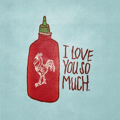 This one's for you, @Manasa Vedula. by Josh Lafayette. #thatslove #sriracha #illustration