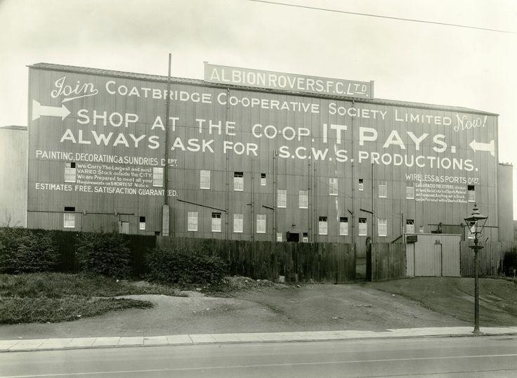 Cliftonhill Stadium, Coatbridge. Home of Albion Rovers FC. (1934) Picture: Robin Marwick.
