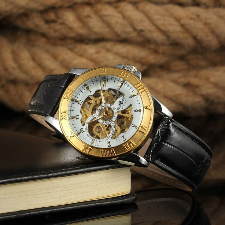 Winner 2016 Gold Military Watch For Genuine Leather Watch Custom Saat Man-Forsining Watch Company Limited www.forsining.com