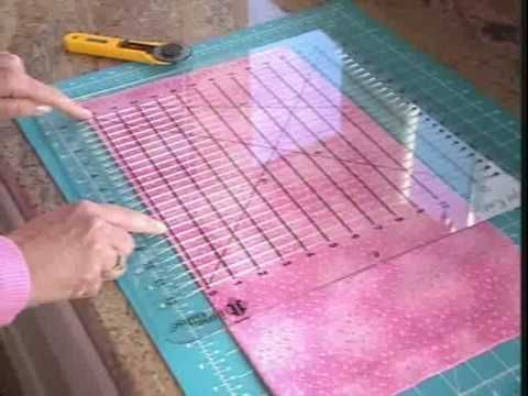 SHAPE CUT RULER - Fabulous demo for how to use this wonderful tool. I have the tool, love it for cutting strips and squares but had no idea it could do so much more!!!