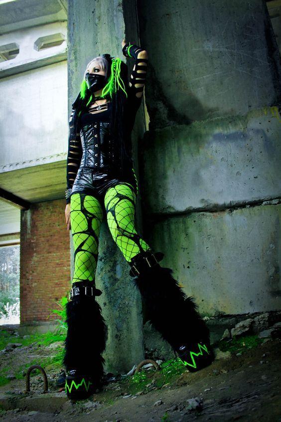 Toxicgreen cybergoth by mysteria-violent.deviantart.com on @DeviantArt