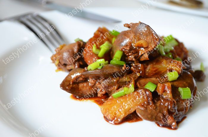 Куриная печень с апельсинами, жареная на сковороде. Пошаговый рецепт жареной куриной печени с фото.