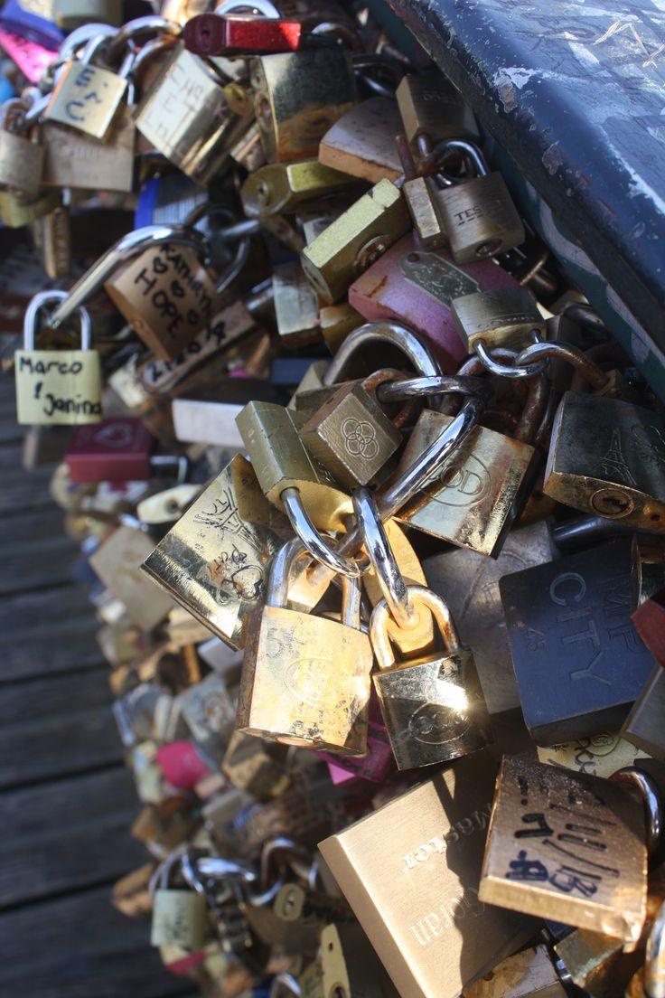 Pad Lock bridge in Paris