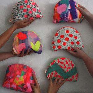 HARVEST TEXTILES : Image of SET OF 3 LUCKY DIP POUCHES | Sumally