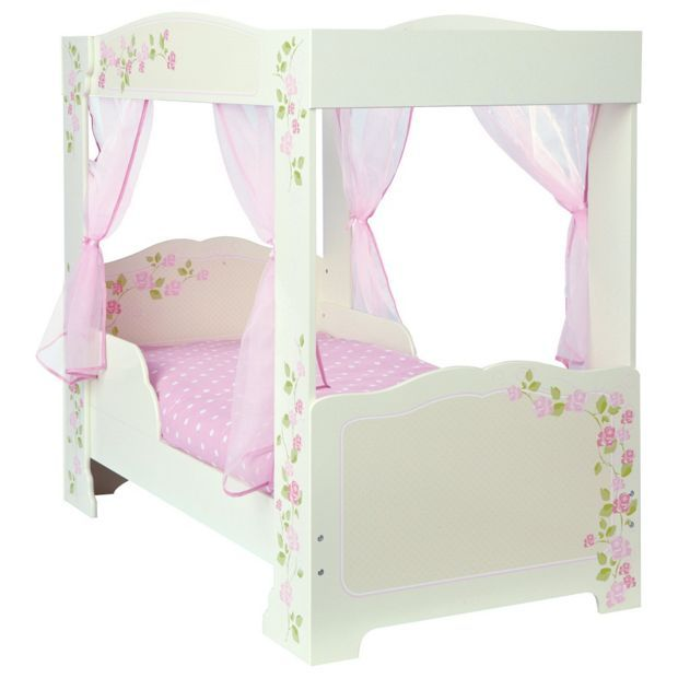 Buy Rose 4 Poster Toddler Bed Frame - Multicoloured at Argos.co.uk - Your Online Shop for Children's beds, Children's furniture, Home and garden.