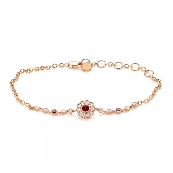 Diamond and Ruby Bracelet Joseph Jewelry | Bellevue | Seattle | Designers of Fine Custom Jewelry