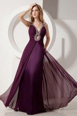 vestidos color uva sexy