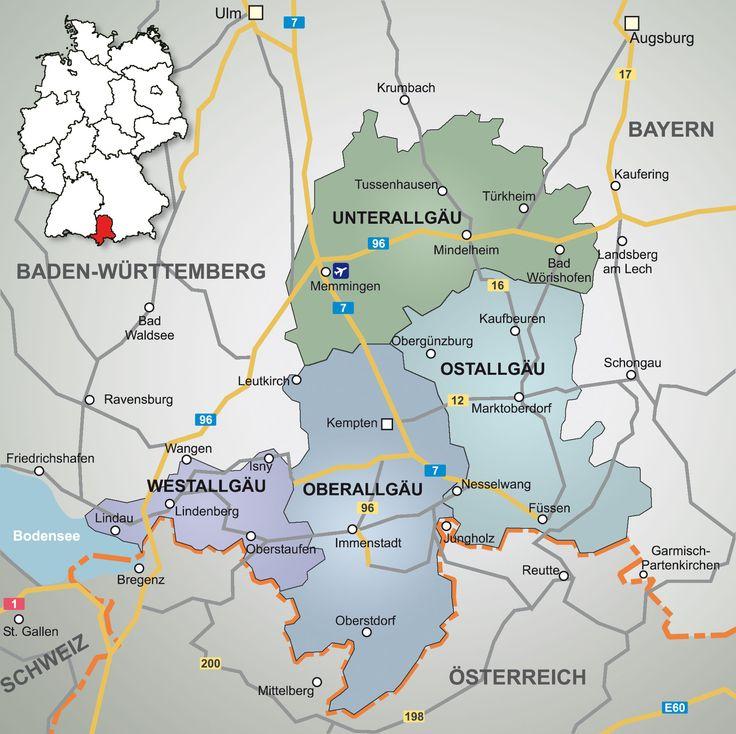 Allgäu Landkarte: http://www.allgaeu-abc.de/region-allgaeu/allgaeu-landkarte/